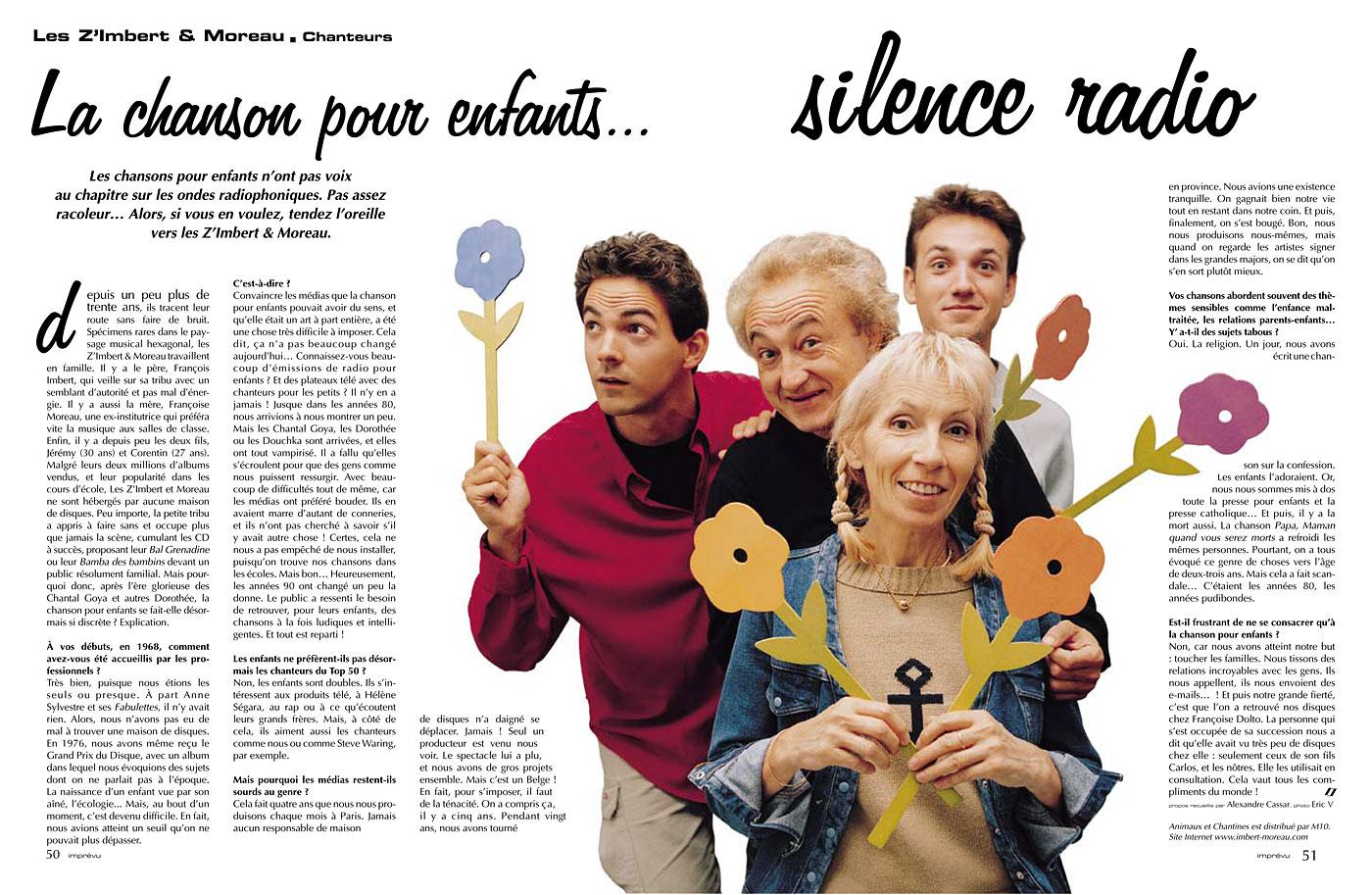 Retrouvez Les ZiM's dans Imprévu de novembre 2001